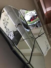 Laura ashley gatsby dressing table mirror and stool