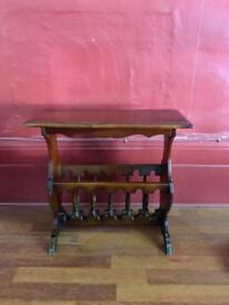 Wooden magasine rack/ small table