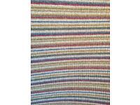100% wool premium brand Crucial Trading Mississippi pastels stripe carpet offcut