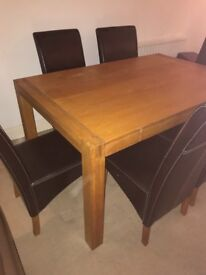 Solid oak table for sale - great price!