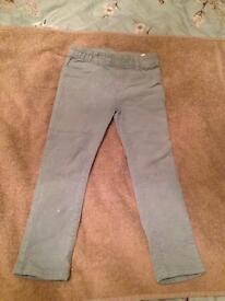 H&M Girls skinny jeans / cords. 3-4yrs