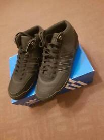 Size UK 6 All Black Adidas Trainers