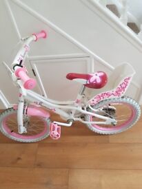 girls bike 16 inch tyres suitable for a girl 6 to 8 years of age in good condition
