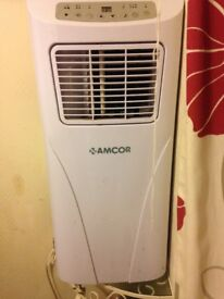 Amcor air con unit fan settings high and low And can adjust temperature of air con used/good cond