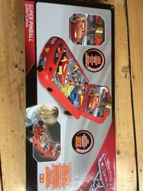 Cars pinball. Unwanted present. New, never opened.