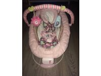 Mothercare comfort and harmony pink bouncing chair