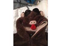 Men's l/xl reindeer onsie
