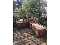 IKEA outdoor benches and table