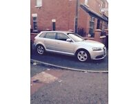 🚙BARGAIN🚕low miles 🚘mint Audi a3 2.0tdi sportback with upgrade SLINE front bumper