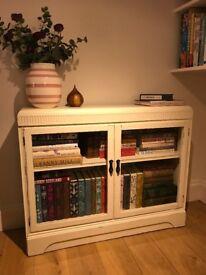 Vintage upcycled glazed book case display cabinet