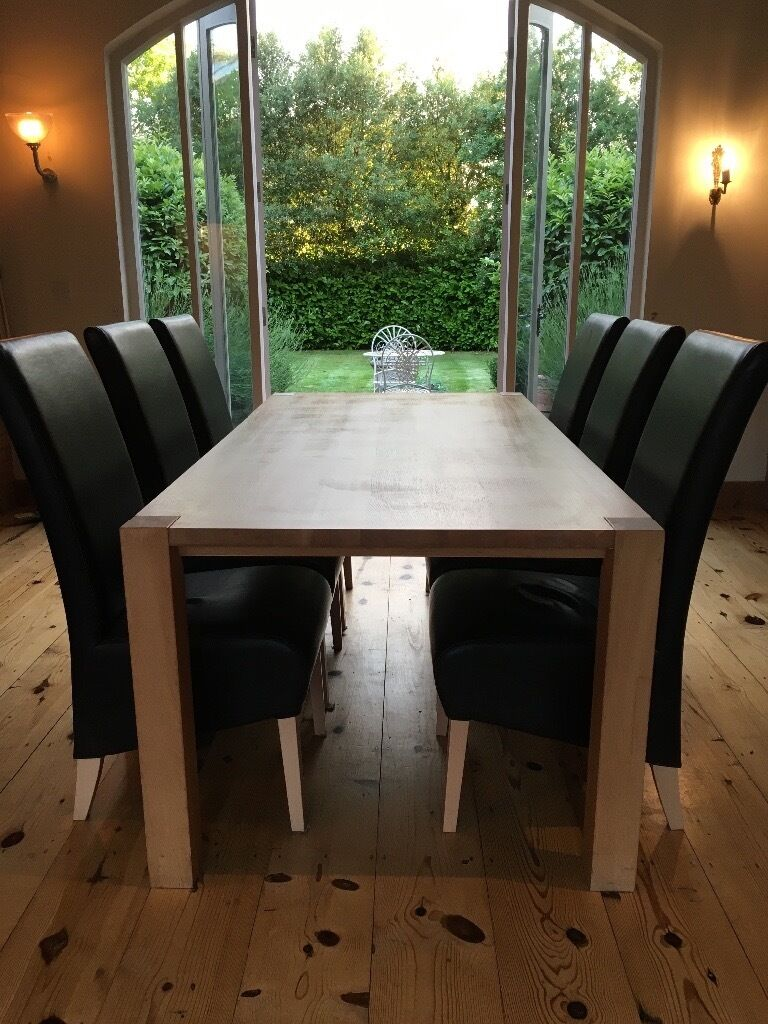 House Of Fraser Dining Room Furniture Oak Dining Room Table With 6 Leather Chairs From House Of Fraser