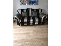3 and 2 seater sofa and footstand for sale in carntyne