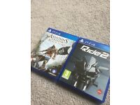 ASSASSINS CREED IV BLACK FLAG SONY PLAYSTATION 4 RIDE 2 PS4