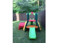 Little tikes double decker super slide and tunnel