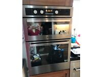 Built in electric double fan oven and grill