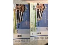 2 x Grand Stand (Row 4) England v Pakistan 25/5/18 Day 2 of first test tickets
