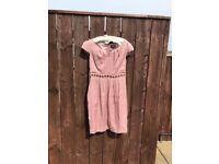 Unusual bronzy pink dress