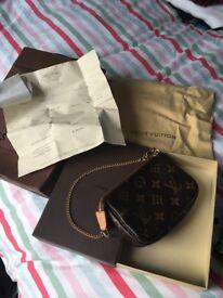 ***REDUCED***Genuine Louis Vuitton handbag 'pochette' unused, mint condition