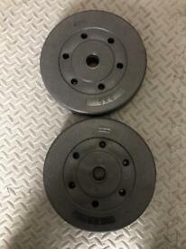 Weight training vinyl weight plates 2x5kg