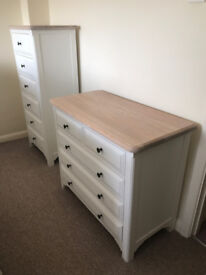 **WREN BEACH HOUSE WHITE 2 OVER 3 DRAWER CHEST** unique wood retail £1,550+