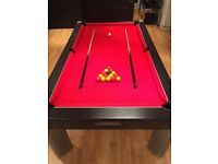 7ft x 4ft Cherry Red Slate Pool / Dining Table with full delivery and construction