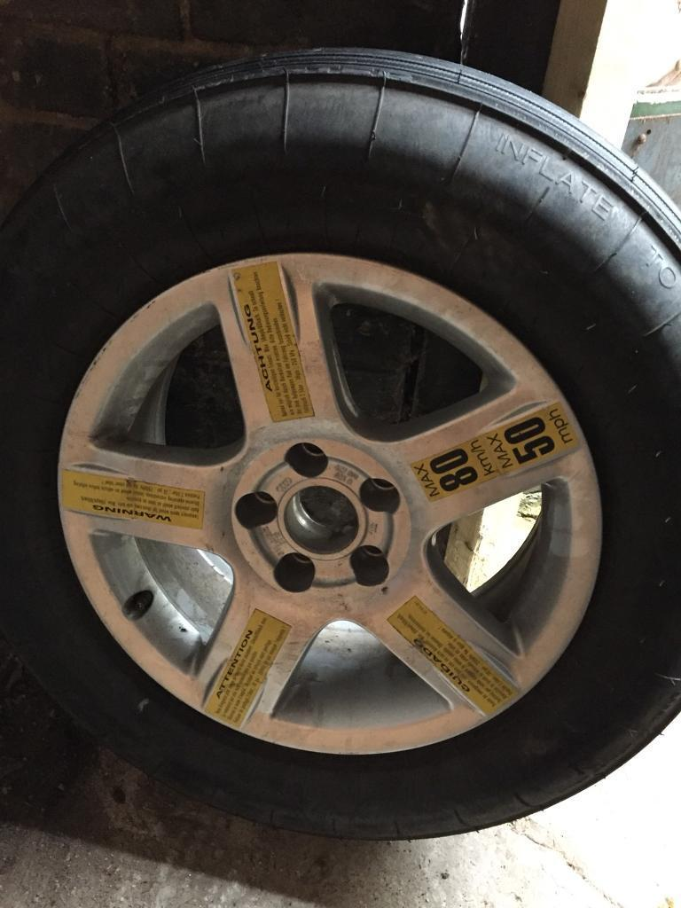 """Audi 16"""" alloy wheel with space saver on"""