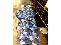 M&S 11-12 year old blue camouflage fleecy dressing gown...