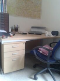 Office desk and swivel chair for sale