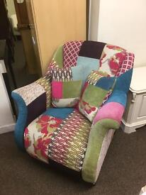 DFS patchwork Armchair * free furniture delivery*