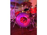 PDP shell pack with Mapex snare drum.