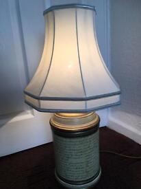 Brilliant tall script style table lamp and shade