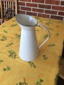 Creamy white 4 litre aluminium jugs