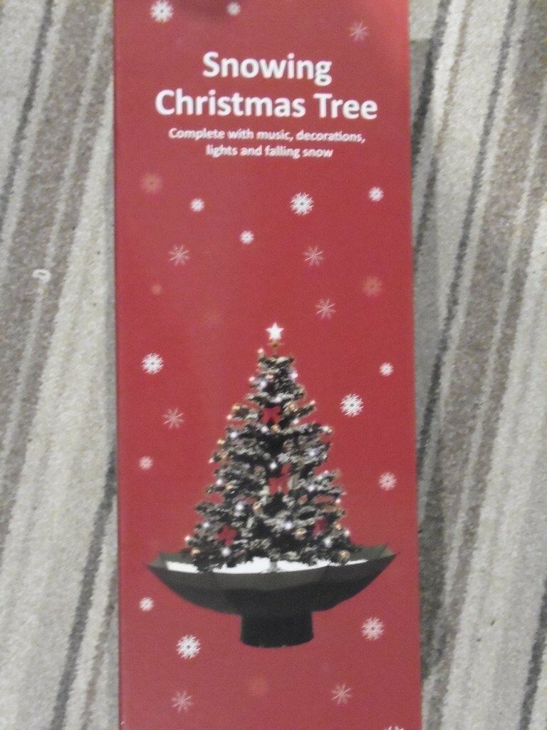 indoor snowing christmas tree 32 inch high