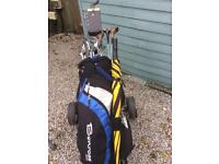 Men's Right Handed Golf Clubs with bag, trolley,umbrella and balls.
