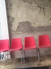 4 primary school chairs