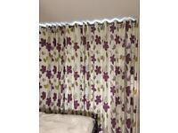 Extra large blackout curtains - 326cm wide/232.5cm drop each.