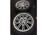 "£170 ONO - 17"" BMW alloys with tyres"