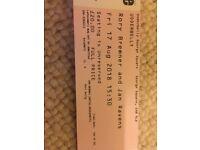 Rory Bremner/Jan Ravens ticket for 17/08/18 at Udderbelly. £20.