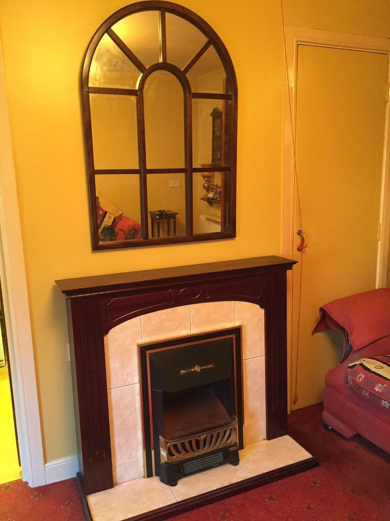Fireplace and mirrorin Castlereagh, BelfastGumtree - Fireplace and mirror for sale, electric fire All working order Collection from Newtownards