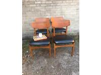 VINTAGE 1960s SET OF CHAIRS FREE DELIVERY DANISH MIDCENTURY 🇬🇧
