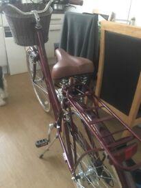 "Pendleton Somerby Hybrid Bike - Plum ladies hybrid bicycle 19"""