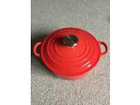 Le Creuset 20cm Cast Iron Round Casserole, Red