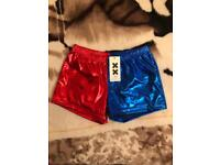 Harley Quinn Red Blue Shorts
