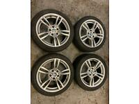 "BMW 2 3 4 5 series 18"" m sport alloys"