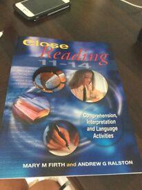 Close reading 11-14 book