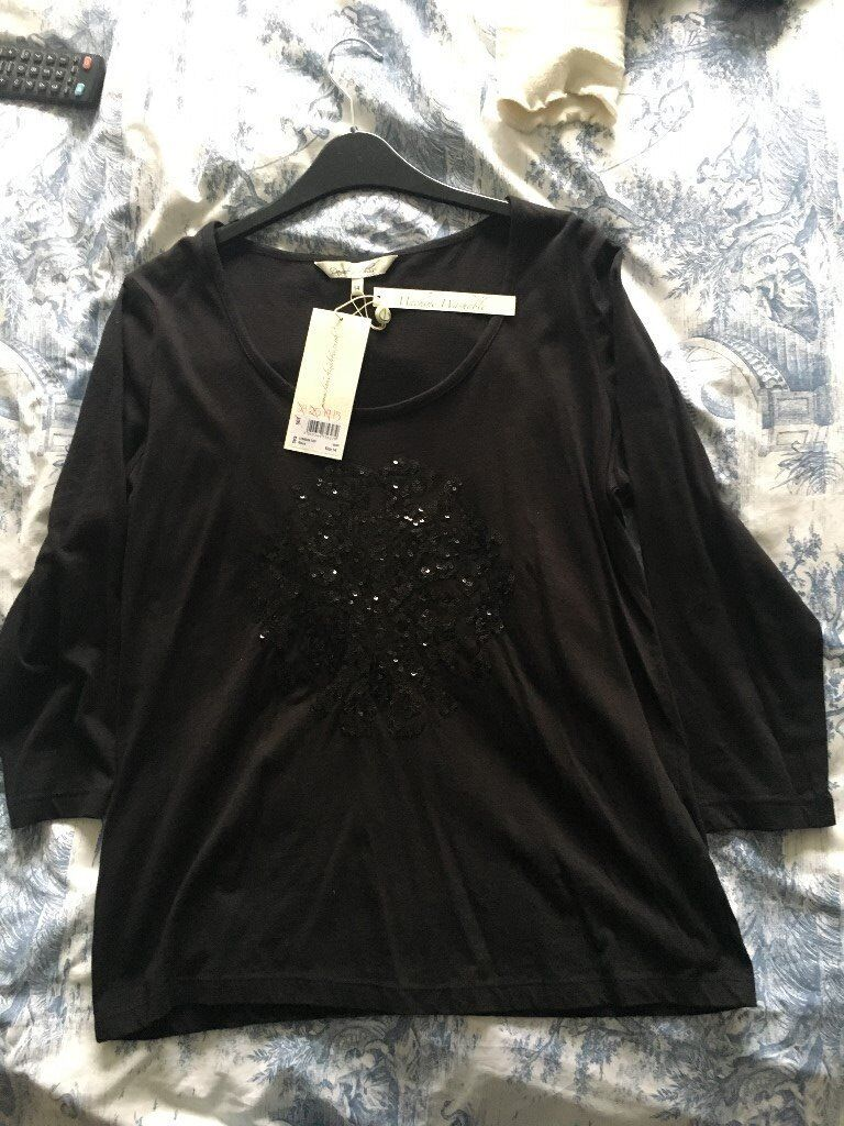 c3a24eae935 Dansel in a Dress Black Sequined Top size 14 - labels attached