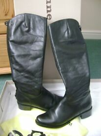 Black leather Dune riding boots, size 5 - £30