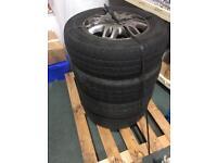 """4 x 16"""" Mercedes Vito van alloys with tyres"""