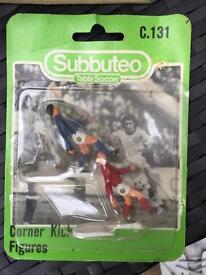 Subbuteo corner kick figures