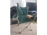 Foldable Camping Outdoor Chairs With Drinks Holder